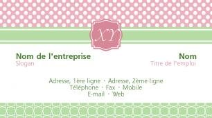 #027850 modèle de carte de visite girly