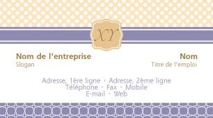 #087760 modèle de carte de visite girly