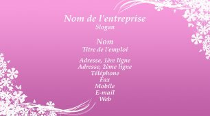 #177296 modèle de carte de visite girly