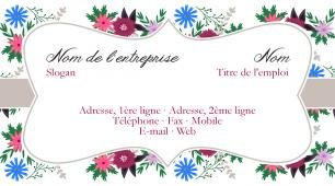 #917400 modèle de carte de visite girly